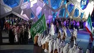 استقبال خادم الحرمين الشريفين أثناء تشريفه حفل وزارة الإعلام الكويتية