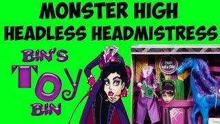 Monster High HEADLESS HEADMISTRESS BLOODGOOD & Nightmare the Horse Review! by Bin
