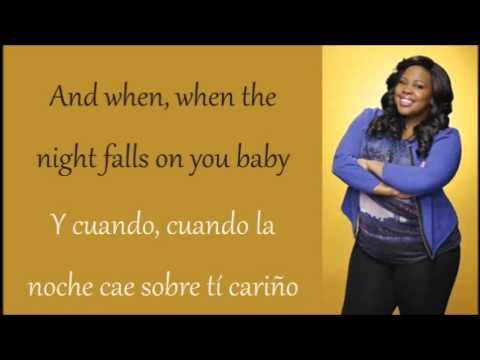 Glee i 39 ll stand by you mercedes lyrics espa ol for Mercedes benz song lyrics