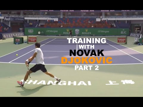Training With Novak Djokovic - Part 2 (TENFITMEN)