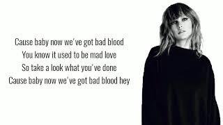 Taylor Swift Ft. Kendrick Lamar - Bad Blood (Lyrics)