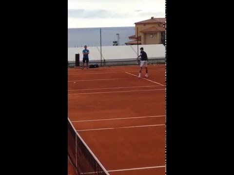 Djokovic volleys Monte Carlo 2016