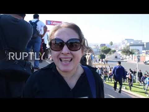 Mexico: Clashes erupt as Tijuana demo protests influx of migrants