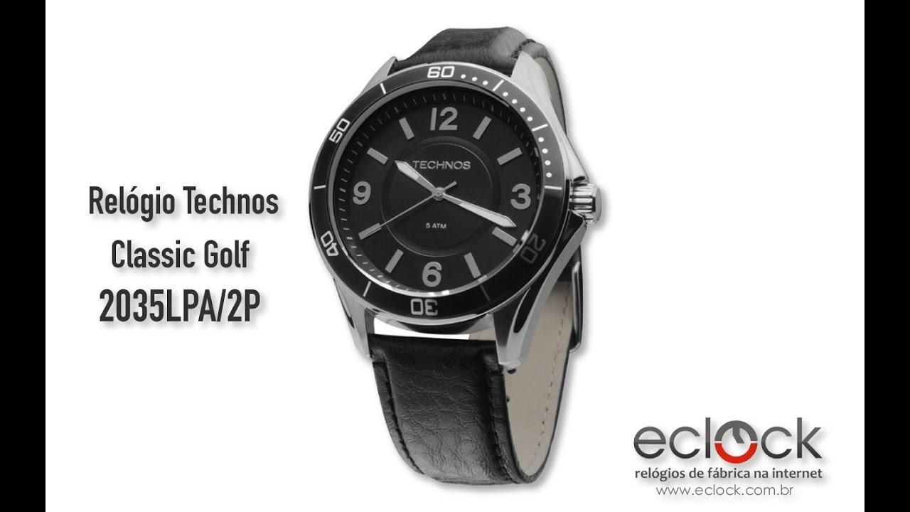 Relógio Technos Masculino Classic Golf 2035LPA 2P - Eclock . ec6cf9a30e