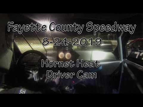Fayette County Speedway Hornet Heat Driver Cam August 28 2019