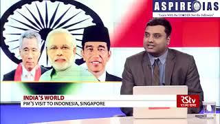 Aspire IAS news express episode on-||PM Modi Visit to Indonesia, Singapore||