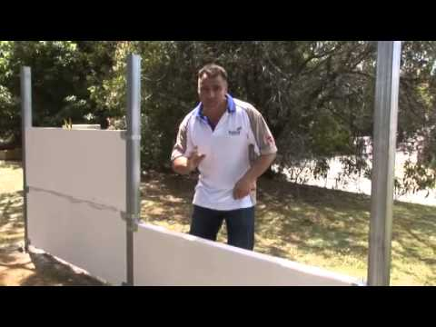 How to build a Hebel PowerFence - YouTube