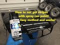 How to not get stripes when using spray paint! Easy method