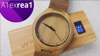 Жесть часы из дерева! Буратино (бамбук) обзор watches wood
