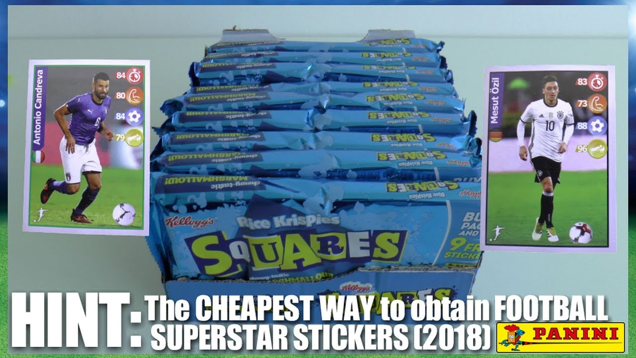 CHEAPEST WAY TO COLLECT Panini FOOTBALL SUPERSTAR STICKERS (2018) ⚽ Kellogg's