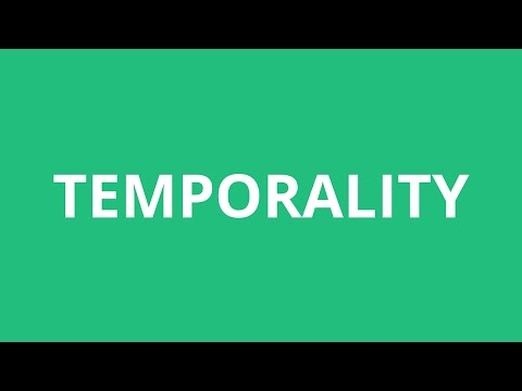How To Pronounce Temporality - Pronunciation Academy