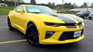 2016 Chevrolet Camaro SS w/2SS Start Up, Complete Tour, and Review