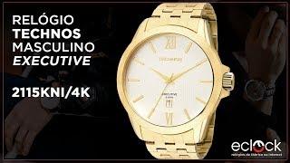34e2a824a6304 Relógio Technos Masculino Executive 2115KNI 4K - Eclock ...