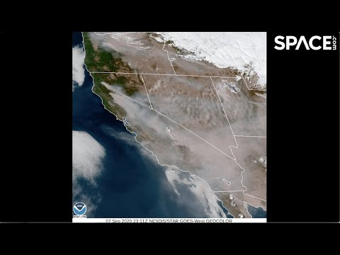 Smoke From California Wildfires Seen From Space