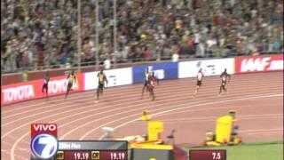 Usain Bolt, Final carrera 200 metros plano.Mundial Atletismo Pekín 2015. IAAF World Beijing 2015.