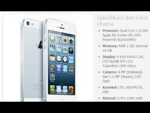 Harga hp apple iphone 5 16gb youtube reheart Gallery