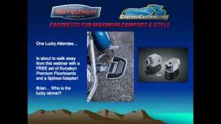 webinar how to achieve maximum style and comfort with foot pegs or floorboards