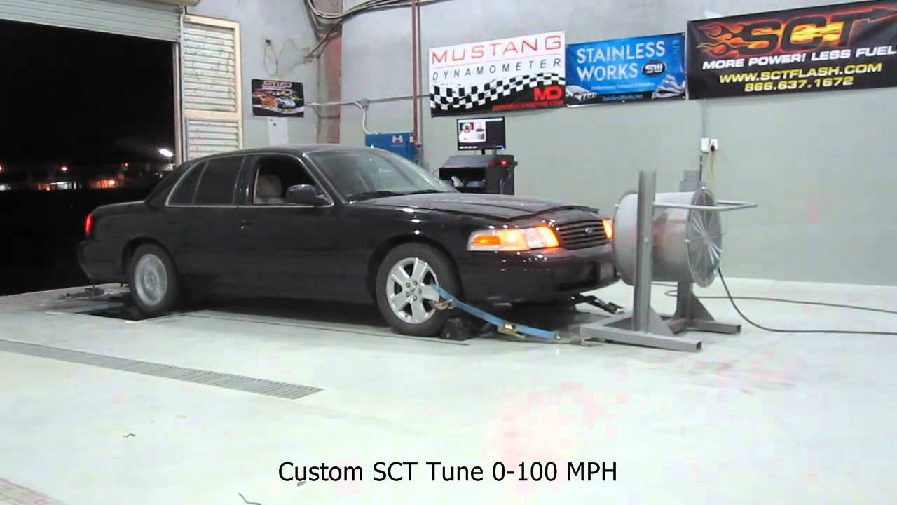 2008 Crown Victoria Acceleration Tests Before And After Sct Custom Tuning