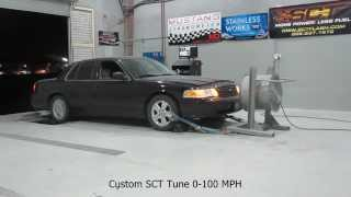 2008 Crown Victoria - Acceleration Tests - Before And After SCT Custom Tuning