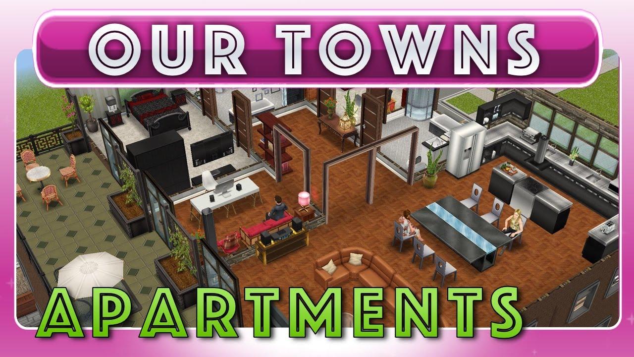 Sims freeplay apartment building original design youtube for Apartment design sims 3