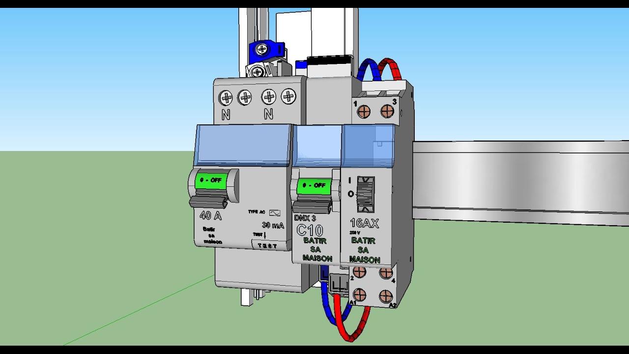 Branchement electrique comment faire circuit clairage - Schema electrique telerupteur ...