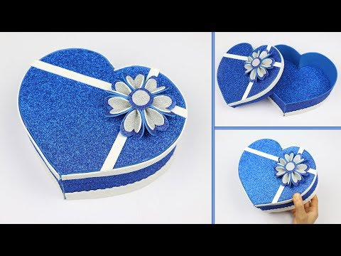 Beautiful Gift Box Idea with foam sheet and cardboard | gift box ideas | best out of waste