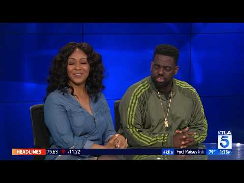 Erica and Warryn Campbell on KTLA 5 News at 1pm