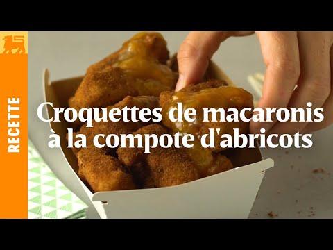 Croquettes de macaronis à la compote d'abricots