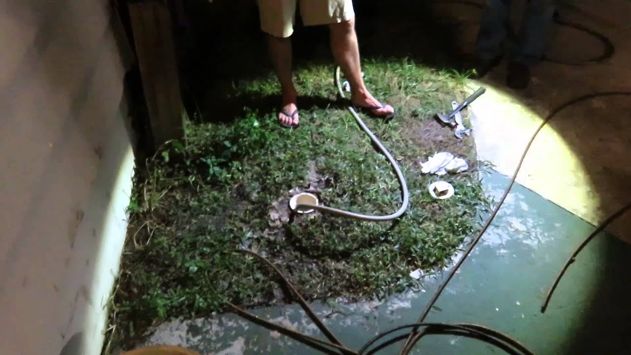Fixing A Clog In A Sewer Pipe Amp So Much Poop Youtube