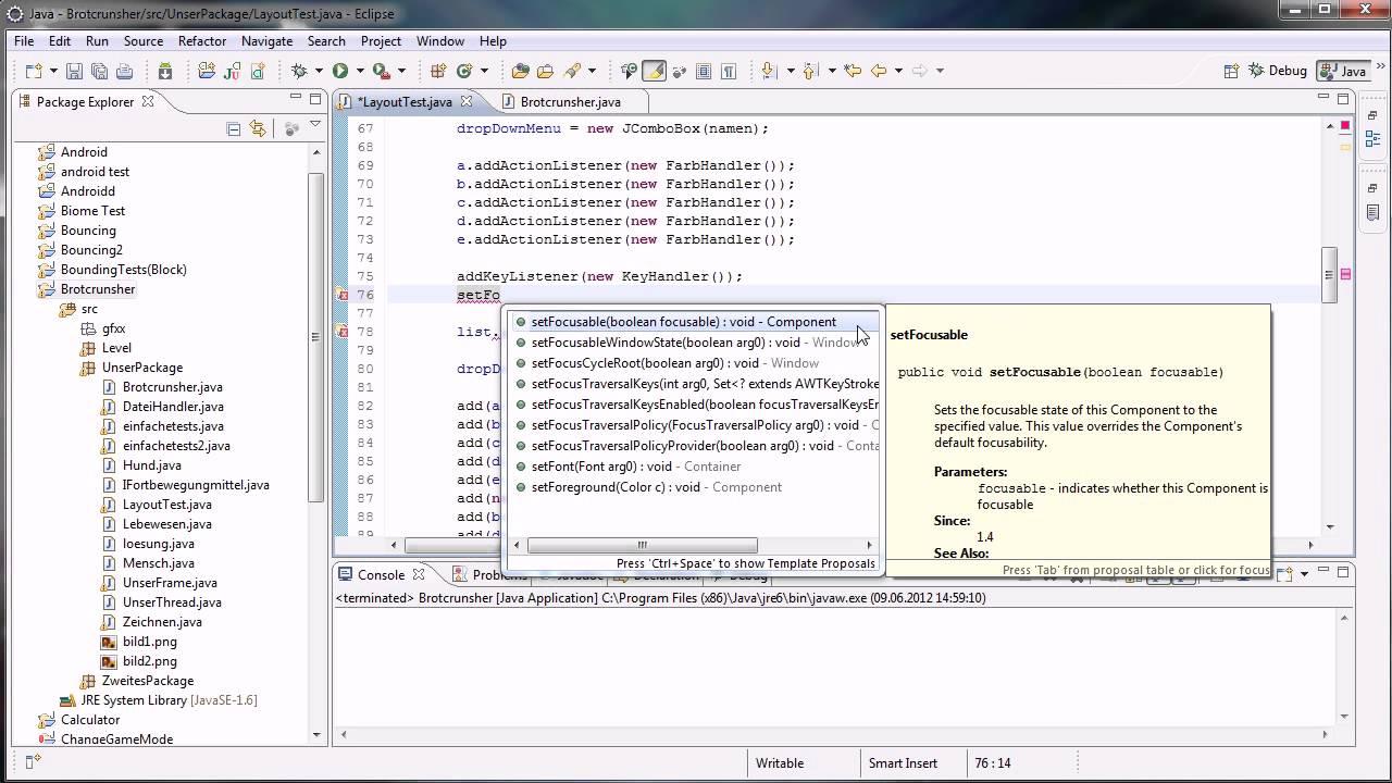 Java tutorial 90 keylistener und mouselistener youtube java tutorial 90 keylistener und mouselistener baditri Image collections
