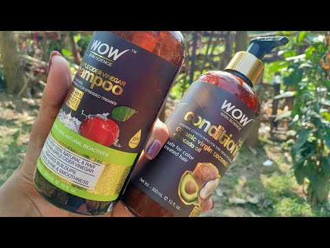 Review of #WOW skin science apple cider vinegar shampoo and conditioner   Juthika