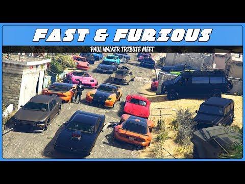 Paul Walker Tribute (GTA 5 Fast & Furious Car Meet)