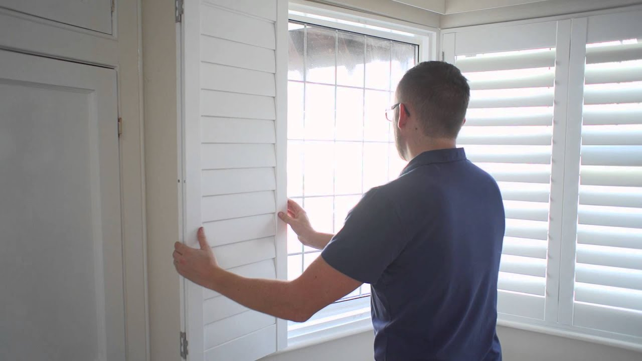 How to Install Inside Mount Shutters - YouTube