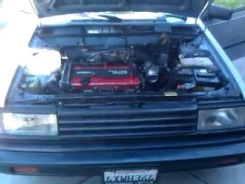 1985 Nissan Sentra, CA18DE swap revving - YouTube