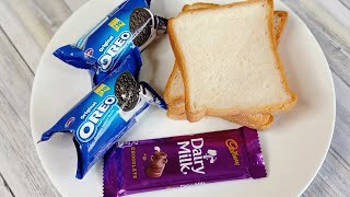 5 Minutes Quick Evening Snacks  Oreo Bread Recipe  Crispy &amp Tasty Bread Snacks  Snacks Recipe
