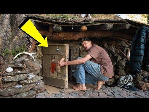 Мужчина ушел жить в лес и построил с виду обычную землянку, но то что внутри просто поражает!