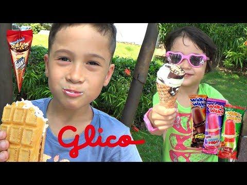 Nyobain Es Krim GLICO WINGS Ice Cream Jepang