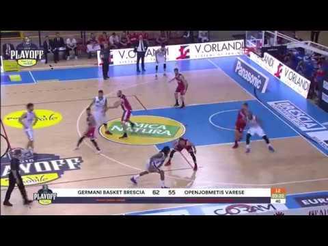HIGHLIGHTS G1 LBA Playoff/ Germani Brescia - Openjobmetis Varese 68-61