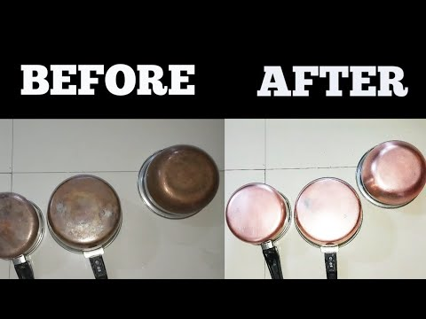 Cleaning of copper bottom pots/pans // How to clean copper bottom pots,pans