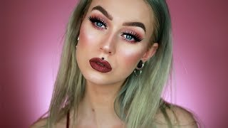Mauve Purple Look Using NEW Makeup | Evelina Forsell