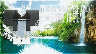 Innocence Black Mesh Kimono II ROBLOX SPEED DESIGN / SPEED DESIGN