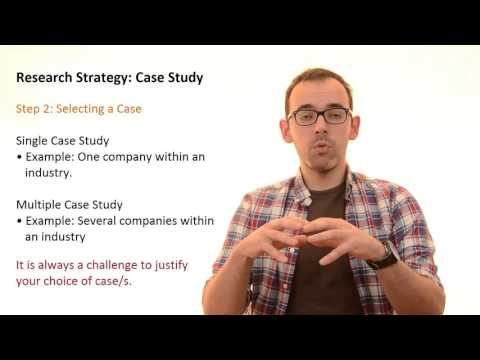 3.7 Research Strategy: Case Study