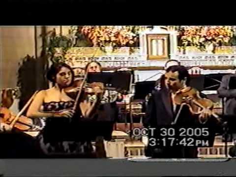 Mozart Sinfonia Concertante K.364.part1, Cecee Pantikian violin, Horváth Béla viola