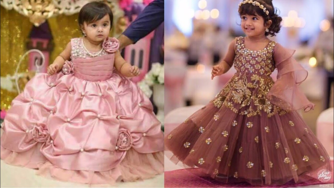 a85eed708e Party wear dresses collection for kids/Frock design ideas for little  girls/Indian wedding outfits