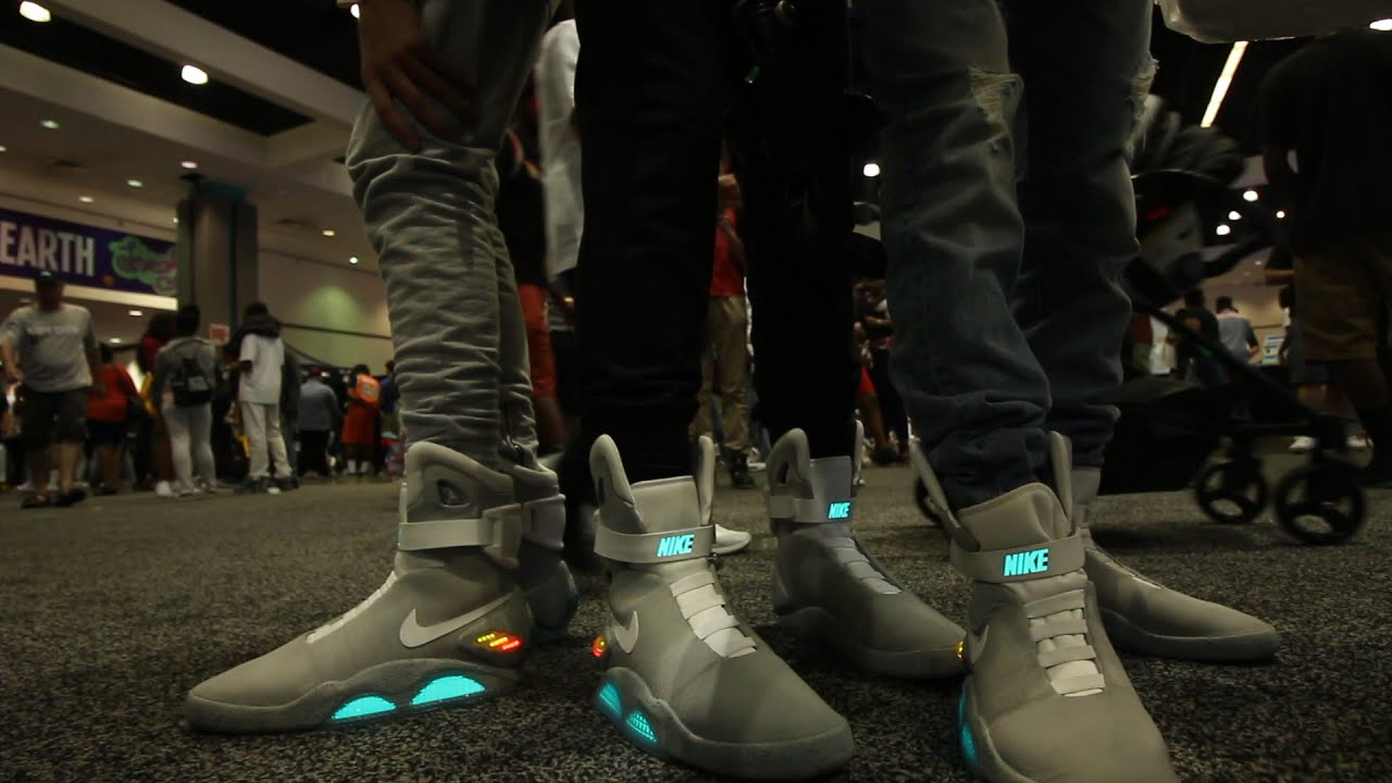 we wore nike air mags at sneakercon youtube