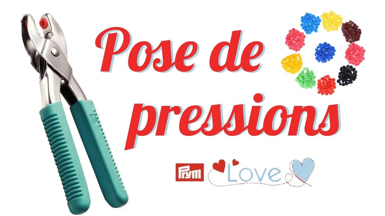 Tuto 10 pose de boutons pressions en plastique pince prym vario love youtube - Poser bouton pression sans pince ...