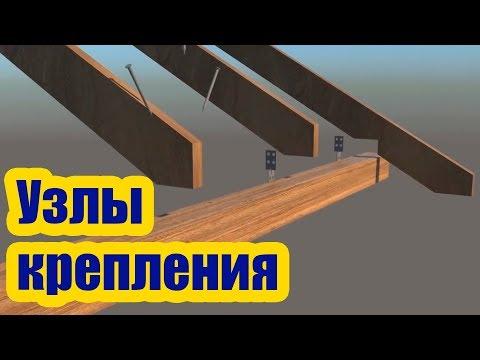 Как крепить стропила к стене