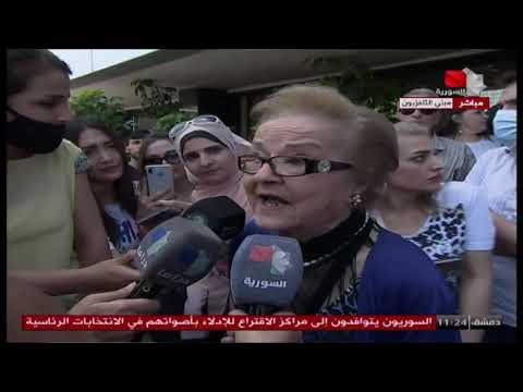 وزير الإعلام السوري وكوكبة من الإعلاميين والفنانيين السوريين يدلون بأصواتهم في الانتخابات الرئاسية