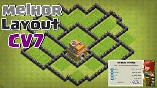 top 3 melhores layouts para cv 7 clash of clans 2017