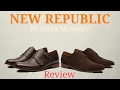 New Republic-double monk strap and brogue wing tip shoes